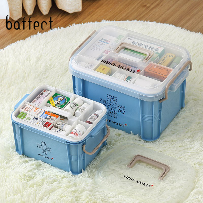 First Aid Kit Organizer Plastic Storage Container Large Medical Boxes Multi-layer Medicine Box Nordic Home Organizing Boxes