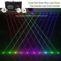 Бесплатная словосочетание красный зеленый синий луч проектора лазерной линии Шторы контроллер 8 Каналы DMX 12CH DJ вечерние шоу сценического ос