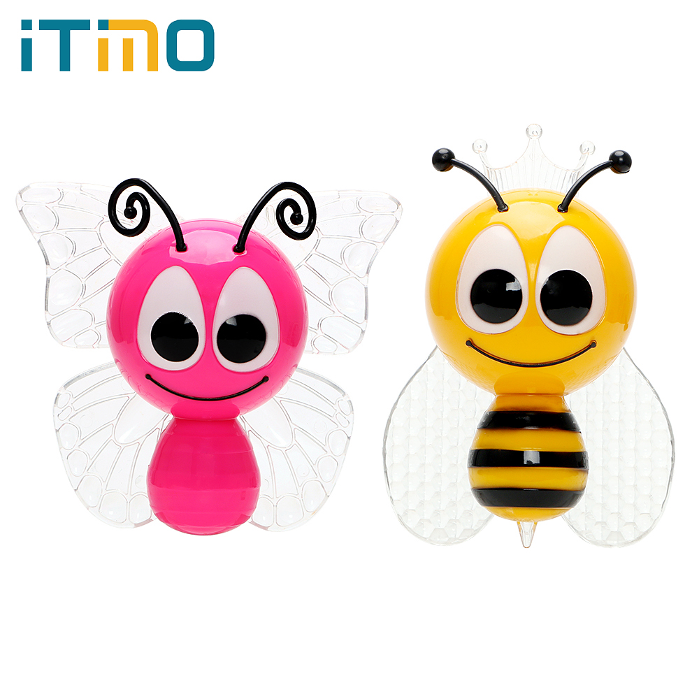 ITimo LED Night Light For Baby Gift Bee Animal Home Decoration Colorful Butterfly Lovely Baby Night Light EU Plug Children Lamp