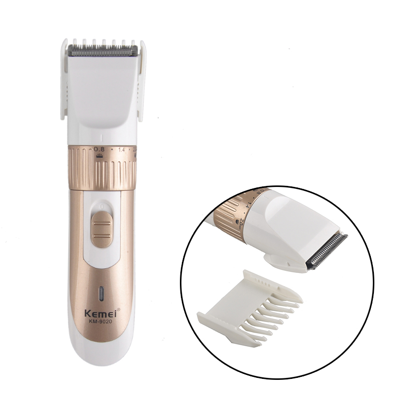 Professional Electric Hair Clipper Trimmer Titanium Blade Hair clipper Cutting Machine Shearer With Limit Combs KEMEI KM-9020 100 240v extra battery lcd tungsten steel blade hair trimmer electric hair clipper cutting machine shearer trimmers c 28