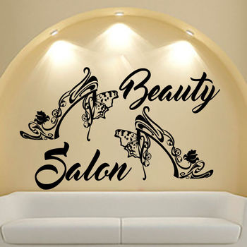 Настенные наклейки Салон красоты наклейка виниловая наклейка для спальни Декор Interio дизайн