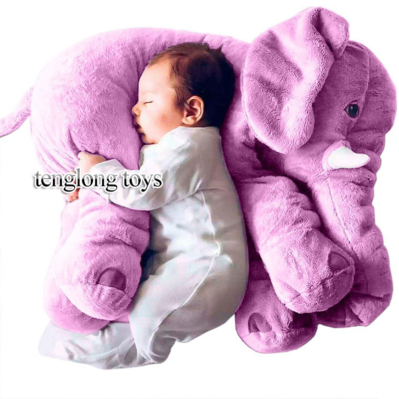 40cm Elephant Plush Toy Grey Purple Pink Blue Elephant Pillow Baby Appease Doll Kids Toys Best Gift For Children Girlfriend stuffed animal 120 cm cute love rabbit plush toy pink or purple floral love rabbit soft doll gift w2226
