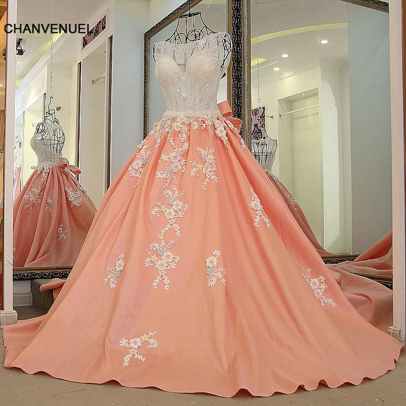 Ls65479 Baile Elegante Largo Vestidos Cristales Arriba O