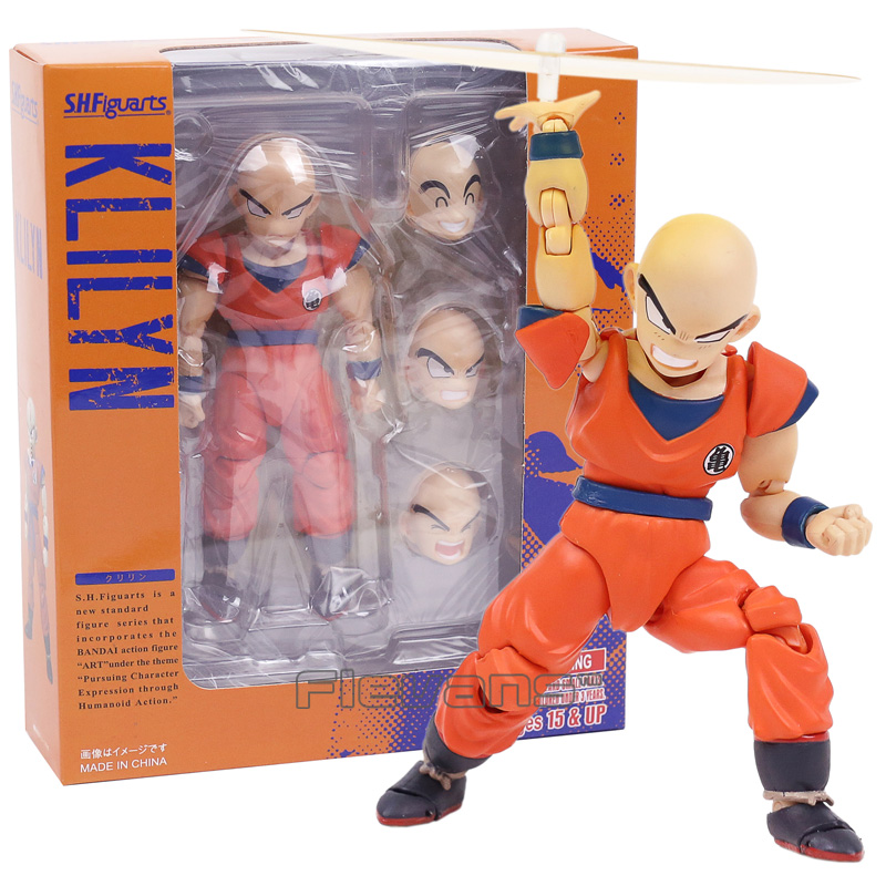 SHF S.H.Figuarts Dragon Ball Z Klilyn Krillin PVC Action Figure Collectible Model Toy 12cm shfiguarts dragon ball z vegeta pvc action figure collectible model toy 6 5 16cm