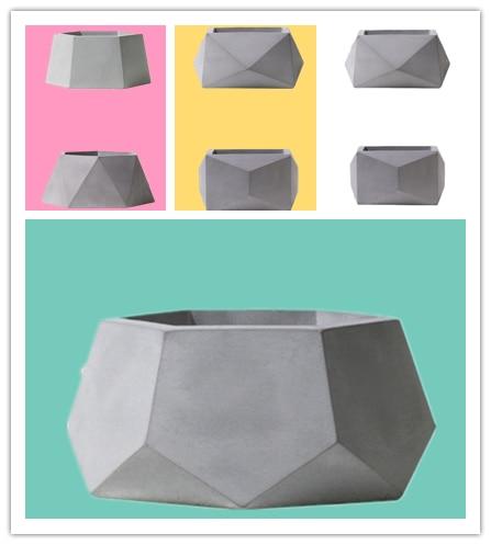 Big Cement Mold Handamde Silicone Flowerpot Molds For Home Gardening Succulent Plants Diamond Shape Clay Pot Mould