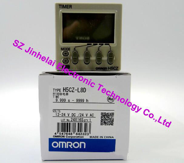New and original OMRON H5CZ-L8D TIME RELAY 12-24VDC/24VDC (alternative old version H5CN-XAN-Z) new original time relay h5cn xbn z