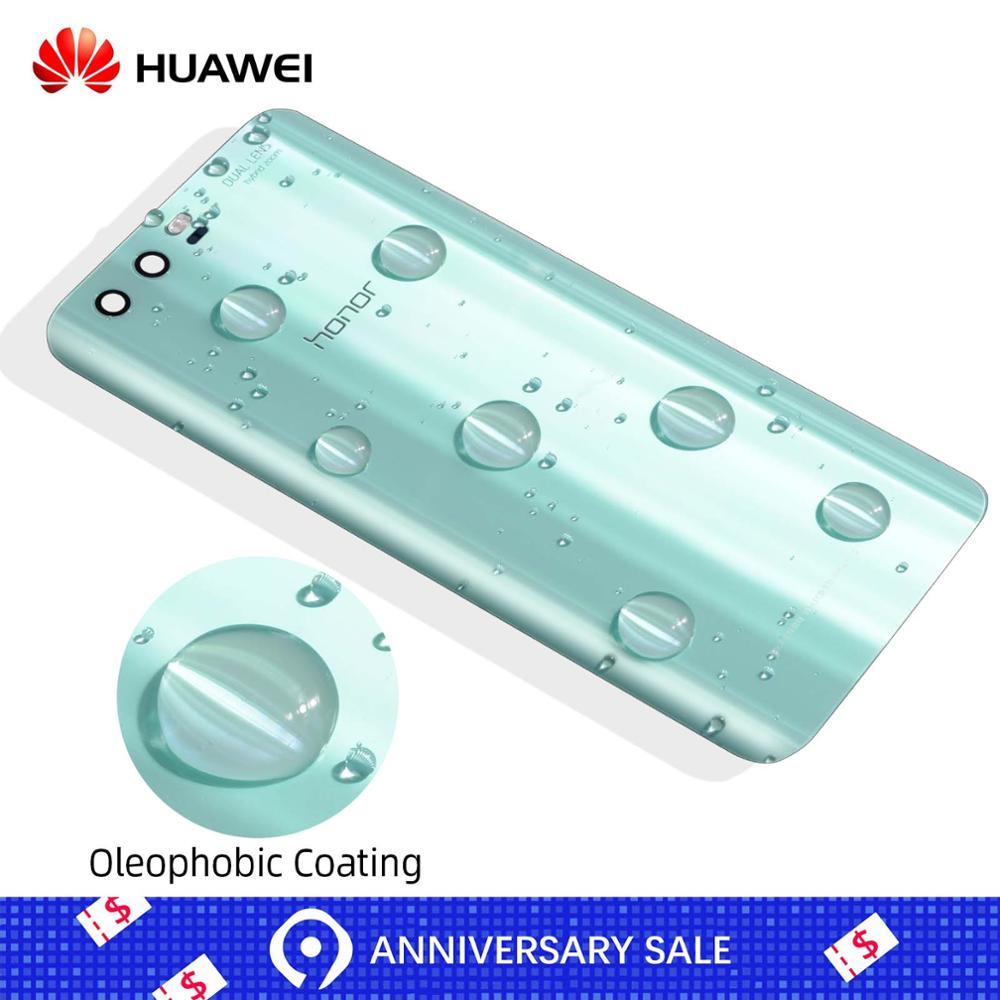 Original Rear Back Housing Glass For HUAWEI Honor 9 Back Cover Battery Door With Flash Lens Replacement Parts