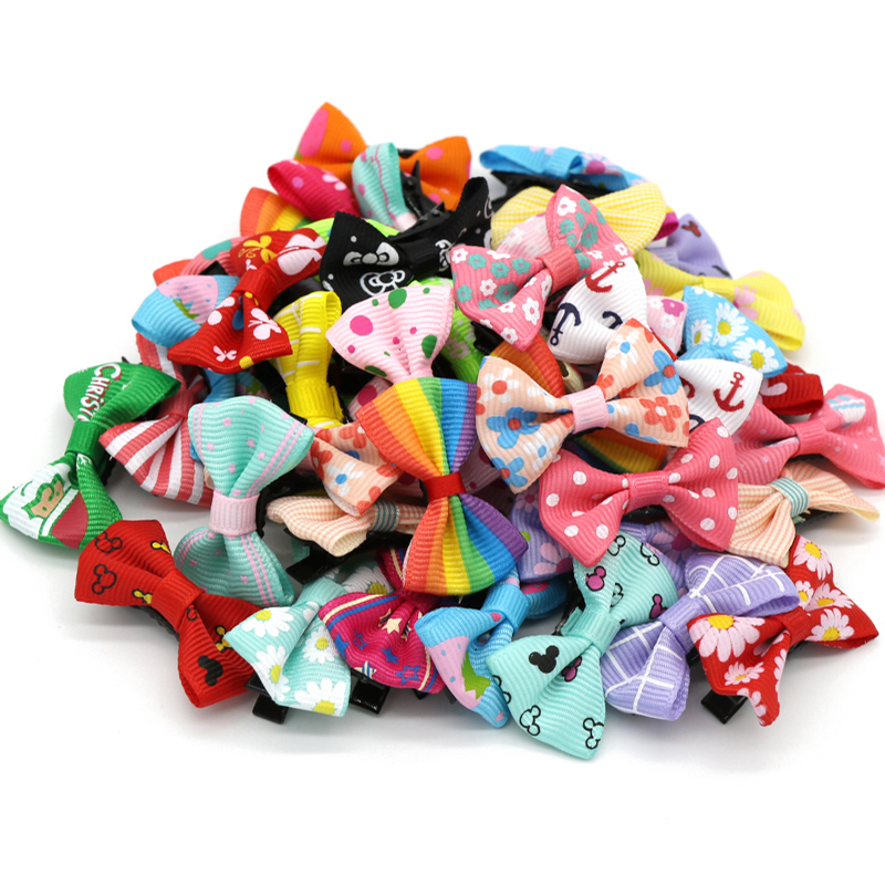12pcs/lot Multi Pattern Hairpins Hair Clips Accessories For Girls Ribbon Hair Bows Barrettes Christmas Gifts For Children