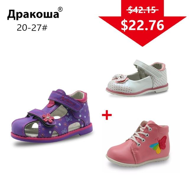 APAKOWA 3 пары обувь для девочек летние сандалии Демисезонный ботинки обувь Цвет случайно послал для одного посылка EU Размер 20-27