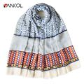 Vancol 2016 New Retro Checkered Cotton Bohemian Fringed Scarf Shawl Winter Scarf Women Soft Cachecol Print Bandana Foulard Scarf