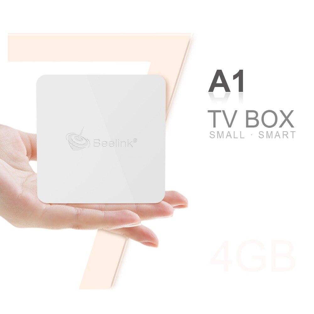 Beelink A1 Smart TV Box Andrio7.1 RK3328 Quad-Core ARM Cortex-A53 Set Top Box 4G 16G/ 32G 2.4G + 5.8GWIFI 1000M Bluetooth TV B правда цвет truecolor mk 3012 b фломастер свежий красный 12 box 2 box
