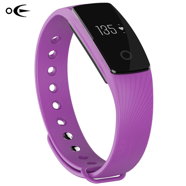 2017 New Bluetooth Smart Bracelet Heart Rate Monitor Wristband Android IOS Activity Fitness Tracker Pedometer  Reminder