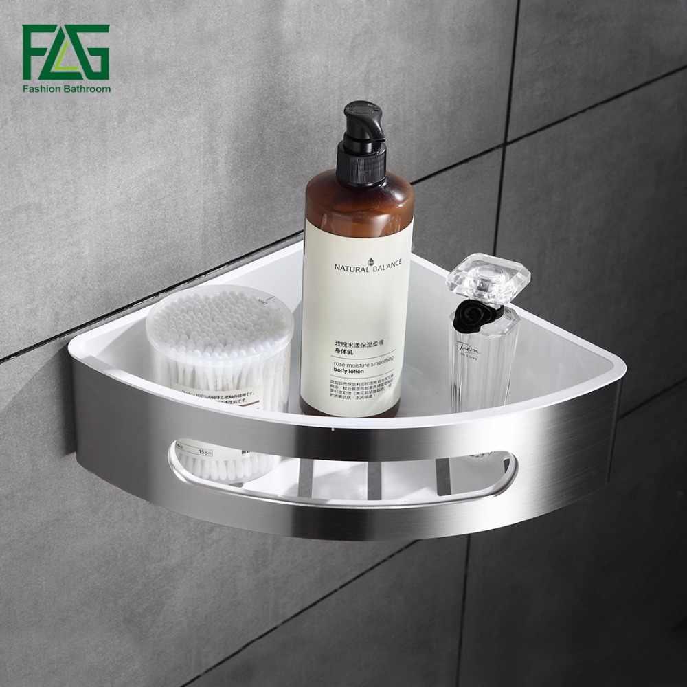 Flg 304 스테인레스 스틸 & abs 플라스틱 욕실 선반 단일 계층 욕실 보관 바구니 벽 선반 욕실 랙 액세서리