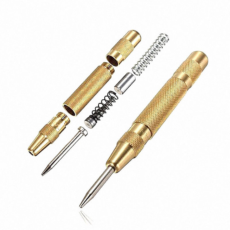 5 Inch Automatic Pin Punch Strike Spring Loaded Marking Starting Holes Woodworking Tool Center Pin High Quality