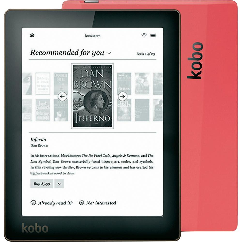 Ebook agradável kobo aura e-book leitor e-ink ereader 6 polegada 4 gb 1024x758 n514 wifi embutido retroiluminação e leitor de livro