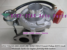 Oil Cool Turbo GT22 736210 736210-5005 736210-0005 118300SZ Turbocharger For ISUZU JMC Transit Pickup JX493 truck Gonow JX493ZQ