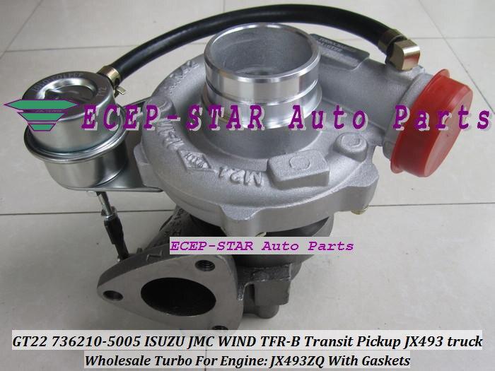 Oil Cool Turbo GT22 736210 736210-5005 736210-0005 118300SZ Turbocharger For ISUZU JMC Transit Pickup JX493 truck Gonow JX493ZQ