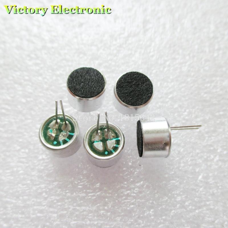 10PCS/Lot 2 Pin 9*7mm 9.5mm Dia MIC Capsule Electret Condenser Pickup Microphone 2 Pin 9*7mm Polar Microphone