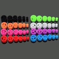 96 stks Hoge Kwaliteit Siliconen Oor Tragus Piercing Expander Brancards Kit Oordopjes En Tunnels Piercing Set Body Sieraden