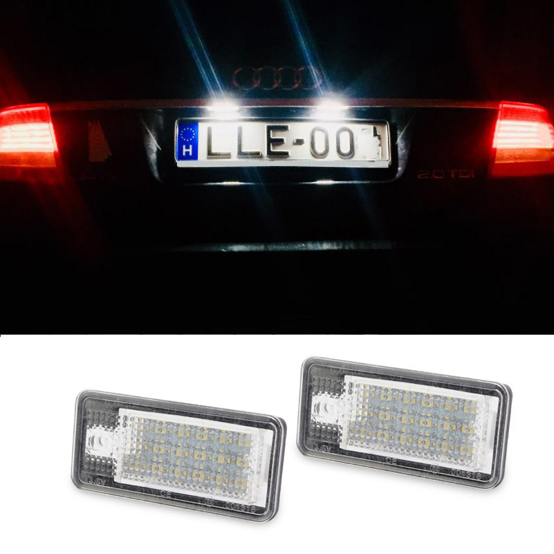 2x Error Free LED License Plate Light Lamp For Audi A3//A4//A6//A8//Q7//RS4//RS6