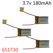 3Pcs 3.7V 180mAh 651730 Lipo Battery For Syma S107G S109G S1