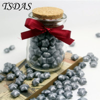 120pcs Bottle Granule Heart Shaped Silver Color Optional Vintage Sealing Wax For Wedding Envelope With Nice