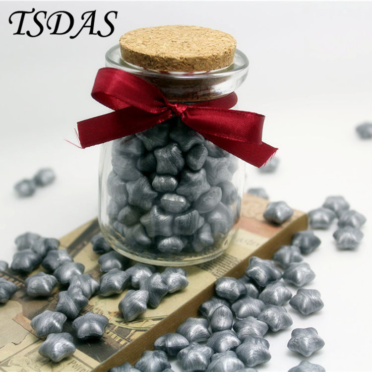 Granule Heart-Shaped Silver Color Optional Vintage Sealing Wax For Wedding Envelope With Nice Glass Bottle new one bottle star shaped color optional vintage sealing wax granule for envelope wedding
