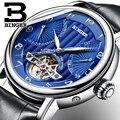 2018 NEUE männer uhr luxus marke BINGER business saphir Wasser Beständig lederband Mechanische Armbanduhren B 1172 3-in Mechanische Uhren aus Uhren bei