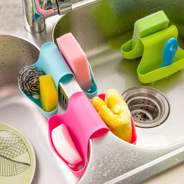 portable kitchen hanging drain bag saddle strainer double sink caddy