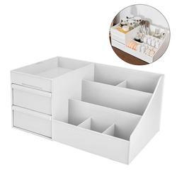 Caixa de armazenamento de maquiagem de plástico gavetas cosméticos organizador caixa de jóias recipiente compõem caso caixas de escritório compõem caixas de recipiente