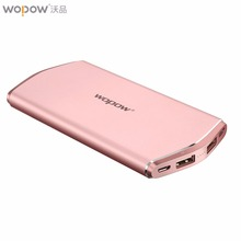 Wopow 8000mAh Power Bank External Battery Portable Mobile Backup Bank Charger for IOS Android All Phone Built-in Polymer Battery