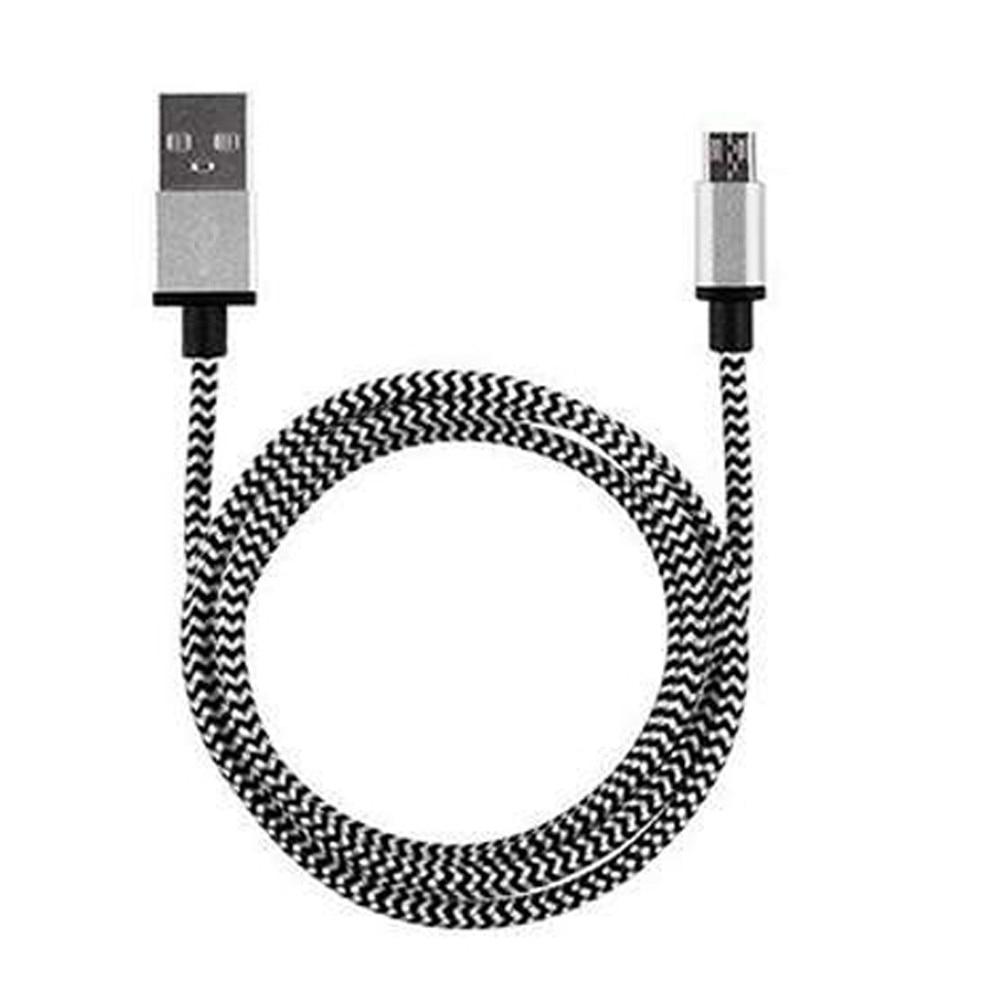 1906e9bf1d0 Trenzado de aluminio Micro USB datos y sincronización cargador más rápido  por Cable para el teléfono Android para Samsung Xiaomi Huawei MEIZU Android  cargo ...