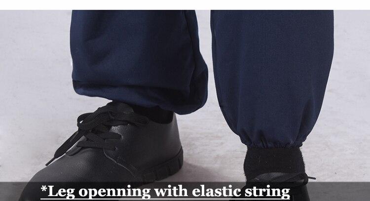 Navy Blue Workwear Coveralls Men Work Pants Construction Uniforms