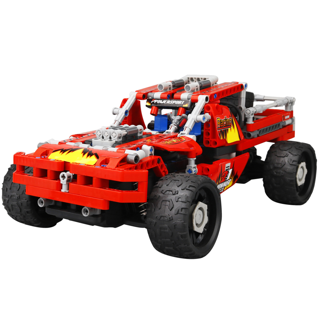 DIY Building Block High Speed RC Car Off-road Vehicle Deformation Vehicle Educational Toy - Warrior Type Red кабель hdmi 3 0м gembird v1 4 углов разъем черный позол разъемы экран пакет cc hdmi490 10