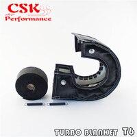 T6 turbo cobertura de cobertura de cobertura de calor preto + manifold escape envoltório 2