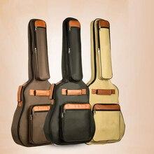 41 дюймов Акустическая гитара, народная сумка водонепроницаемый чехол для гитары для путешествий 40 дюймов Чехол для гитары 5 мм с хлопковой подкладкой