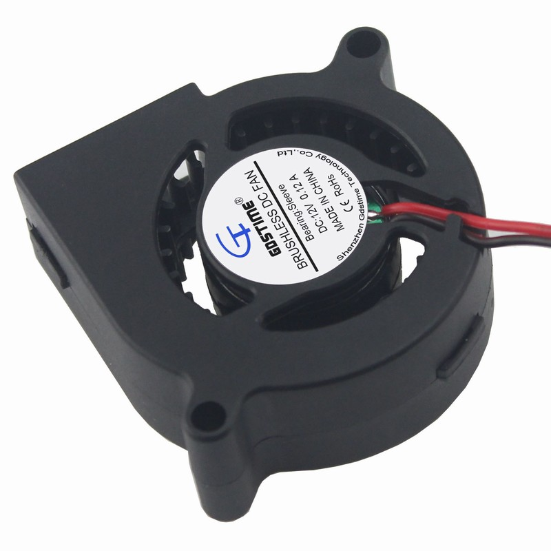 2Pieces Gdstime 50x50x20mm Blower Fan 50mm DC 12V Machine Equitment Exhaust Brushless Cooling Fan 5020 PC CPU RAM Cooler
