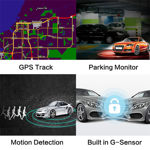 AZDOME GS63H WDR 4K Built in GPS WiFi dash cam Night Vision car camera recorder Dual Lens Vehicle Rear View car dvr 4