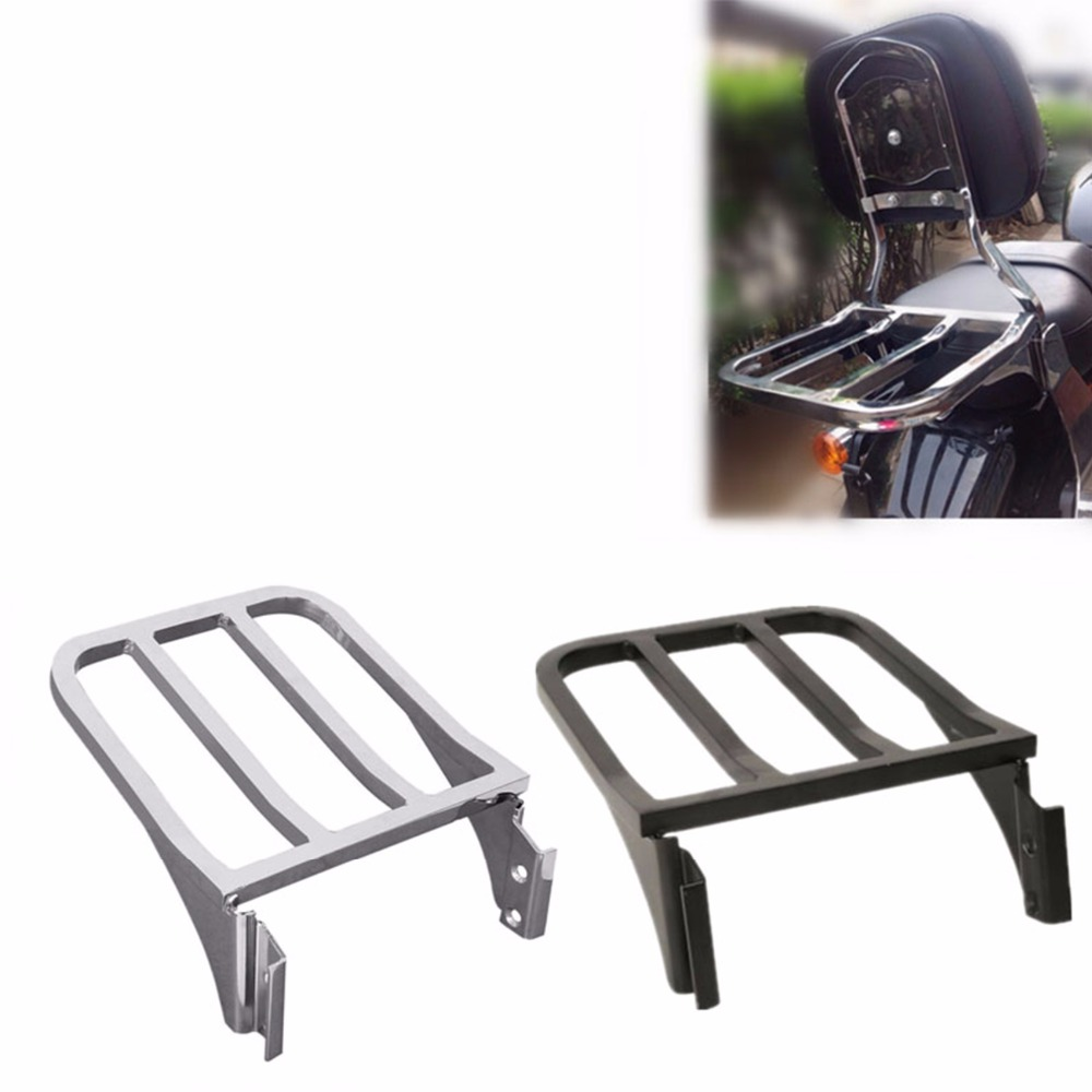 Motorcycle Luggage Rack Rear Carrier For Harley Sportster XL 883 1200 2004 2018 Dyna Fat Boy 2006 2018 Softail Fatboy 2000 2005-in Carrier Systems from Automobiles & Motorcycles