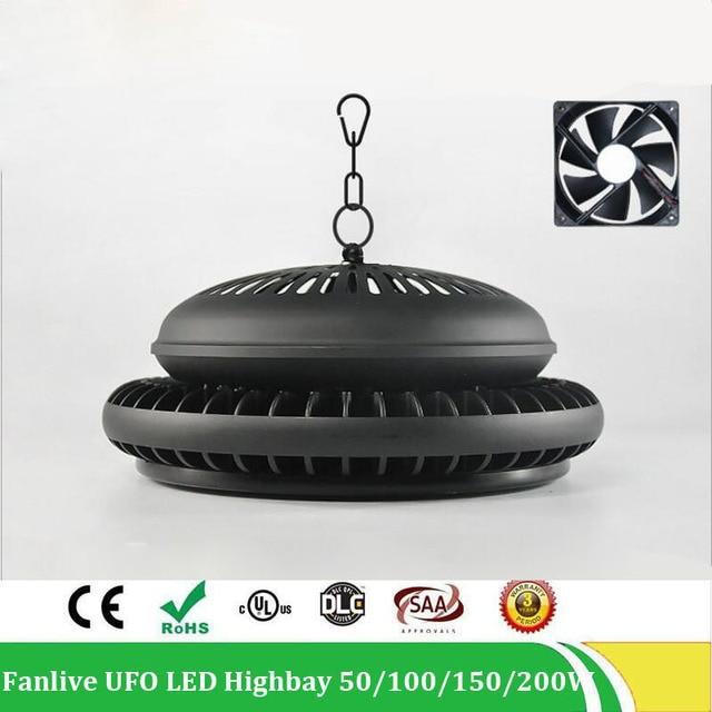 50W 100W 150W 200W led UFO high bay flood light 200W industrial lighting New fin type highbay light, AC100-265V 5years warranty