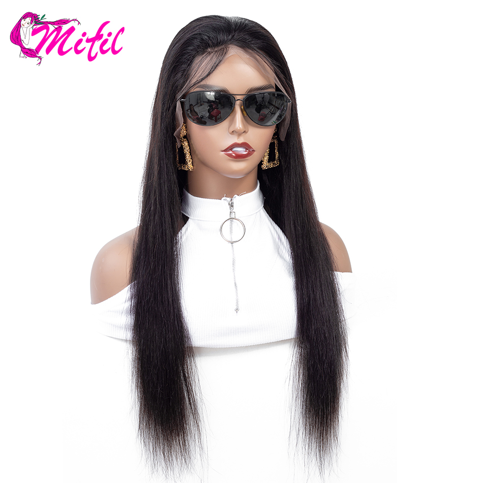 Mifil Lace Front Human Hair Wigs For Black Women Pre Plucked Straight Lace Front Wigs With