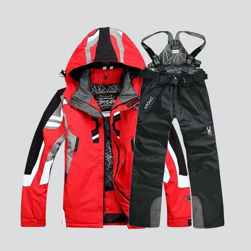 Combinaison de ski d'hiver de haute qualité pour hommes veste de ski pantalon imperméable à l'eau ensembles de snowboard