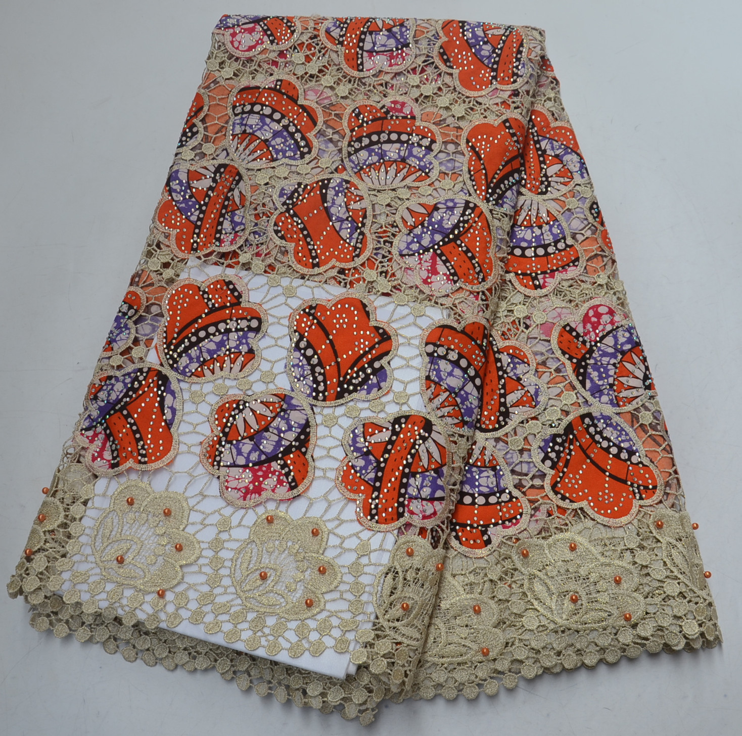 High Quality African Wax Lace Fabric Hot Sales African Wax Lace Fabric With Embroidery Cord Wax Fabric For PartyHigh Quality African Wax Lace Fabric Hot Sales African Wax Lace Fabric With Embroidery Cord Wax Fabric For Party