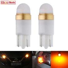 2/4 sztuk Amber pomarańczowy żółty 3030 2SMD W5W 194 T10 żarówka LED dla samochodów światło górne do wnętrza kabiny samochodu 12V Auto miejsca postojowego, wkręcana lampa