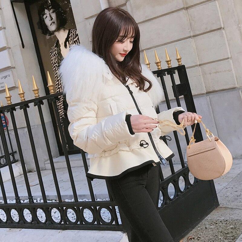 8d5df80bd8ca Longues blanc Court Noir Épais Vêtements Plus Femmes À Femme Mince Réglable  D hiver Mode Taille Femelle 2018 De Veste Manteau ...