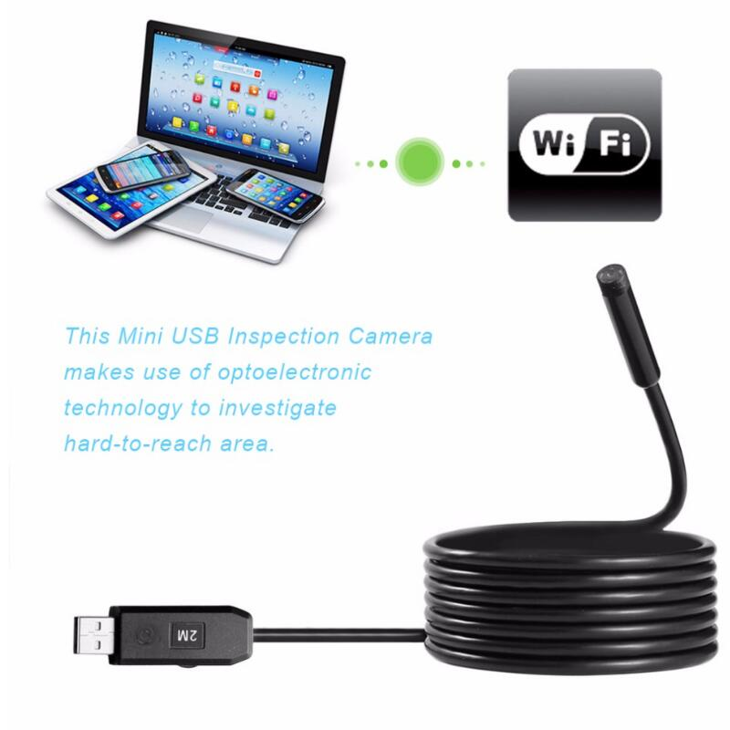 5M Professional Waterproof Endoscope Camera 6LED USB Handheld Working Inspection Borescope With side mirror For PC diameter 17mm camera head with flexible tube for av handheld endoscope