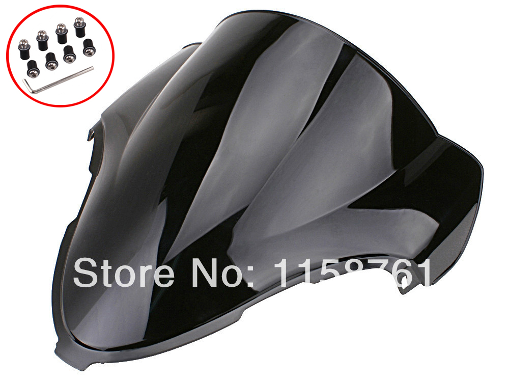 Black Smoke Windscreen Windshield For Suzuki Hayabusa GSXR 1300 GSX1300R 99-07 Free Shipping