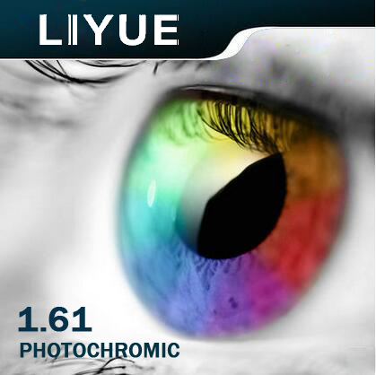 LIYUE INDEX 1.61HMC lentilles photochromiques de prescription gris marron couleur optique lentille en résine lentille de transition