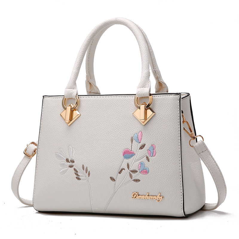 longmiao National Floral Women Messenger Bags Lady Designer PU Leather Embroidery Flowers Crossbody Shouler Bags Sac a Main 4