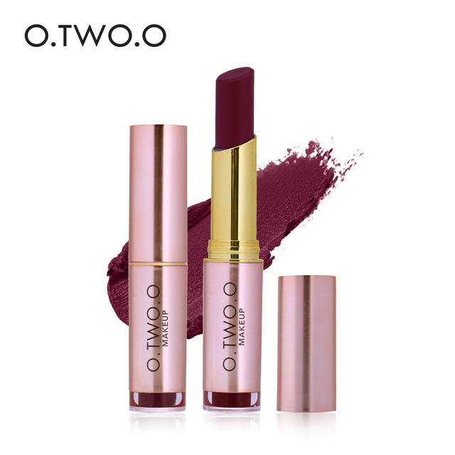 O. DOS. O Mate Lipstick Maquillaje 20 Colores Vevet Kissproof Todo el Día de Larga Duración Lápiz Labial Superventas 2017 para Las Niñas
